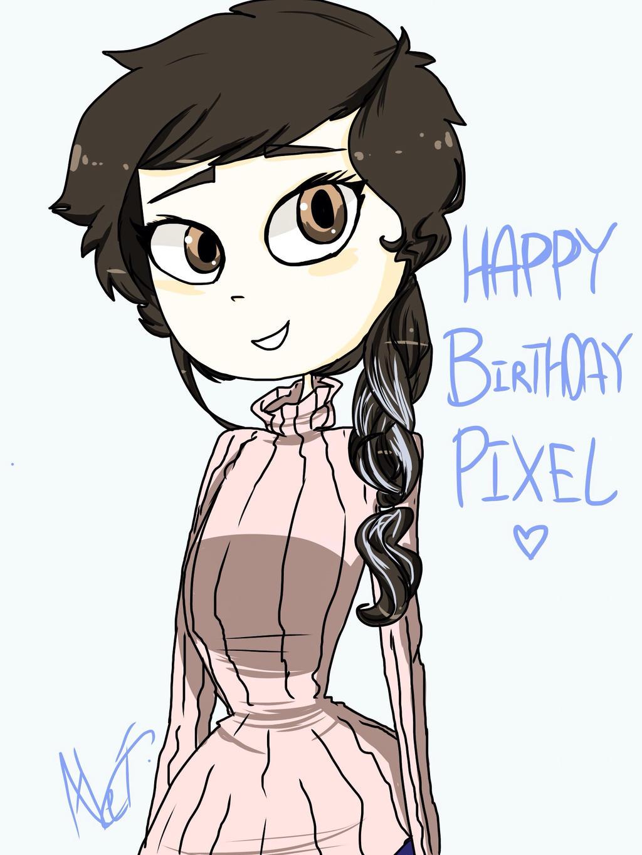 Happy Birthday Pixel! by MoonlightWolf17