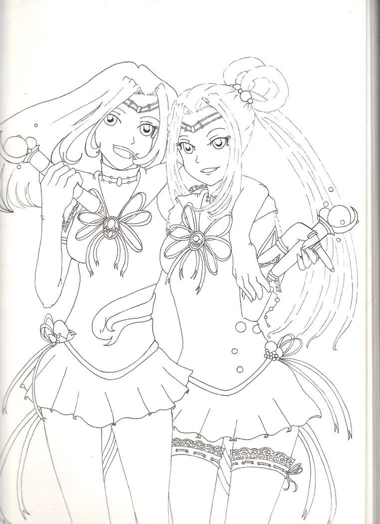 Sailor Sparkles Lineart by LadyTorment