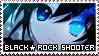 Black Rock Shooter stamp + plz by InsaneMelodii