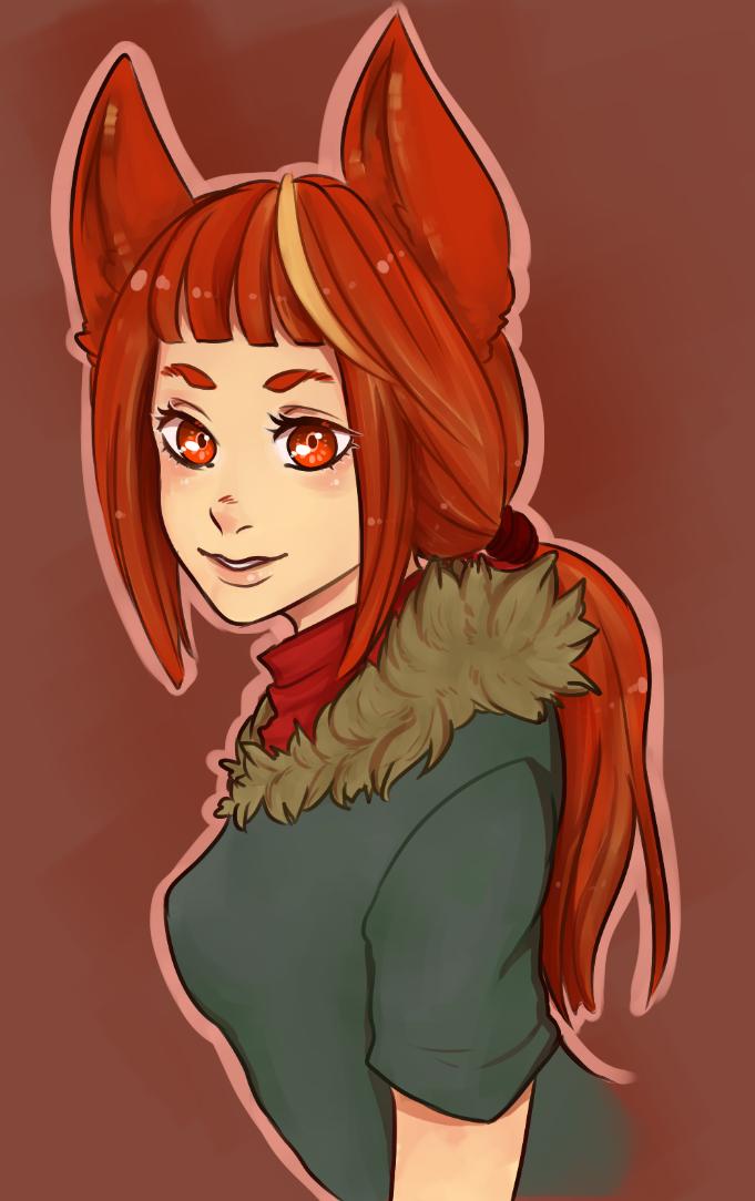 Cat girl redraw by SpoopyKun