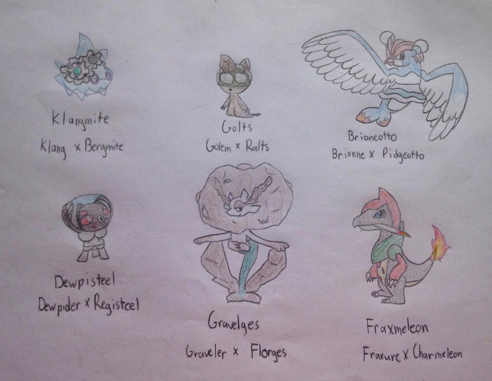 Pokemon Fusions 6 by PoppyWolfMoon