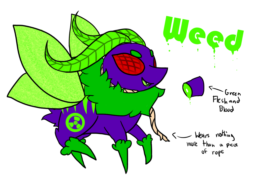 Weed the Bug Monster (Reworked) by PoppyWolfMoon