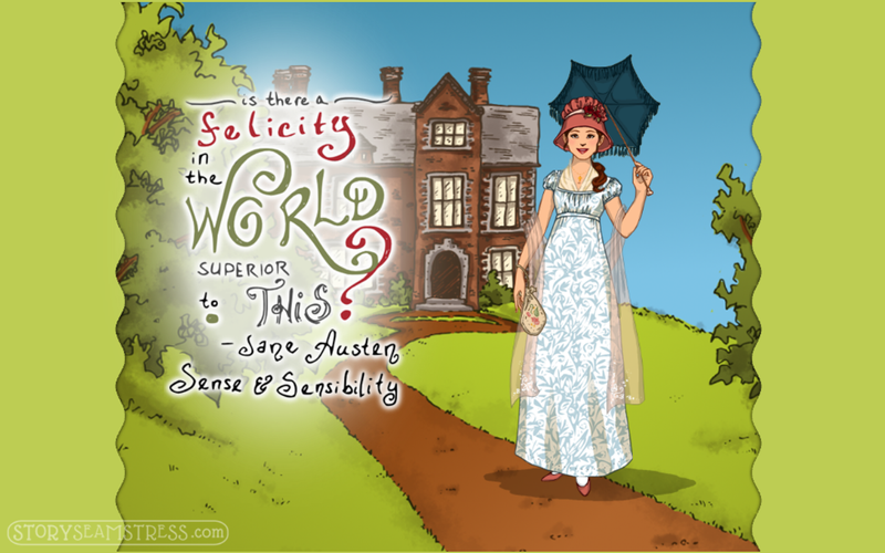A Superior Felicity (Jane Austen Dress Up App) by frivolousdistinction