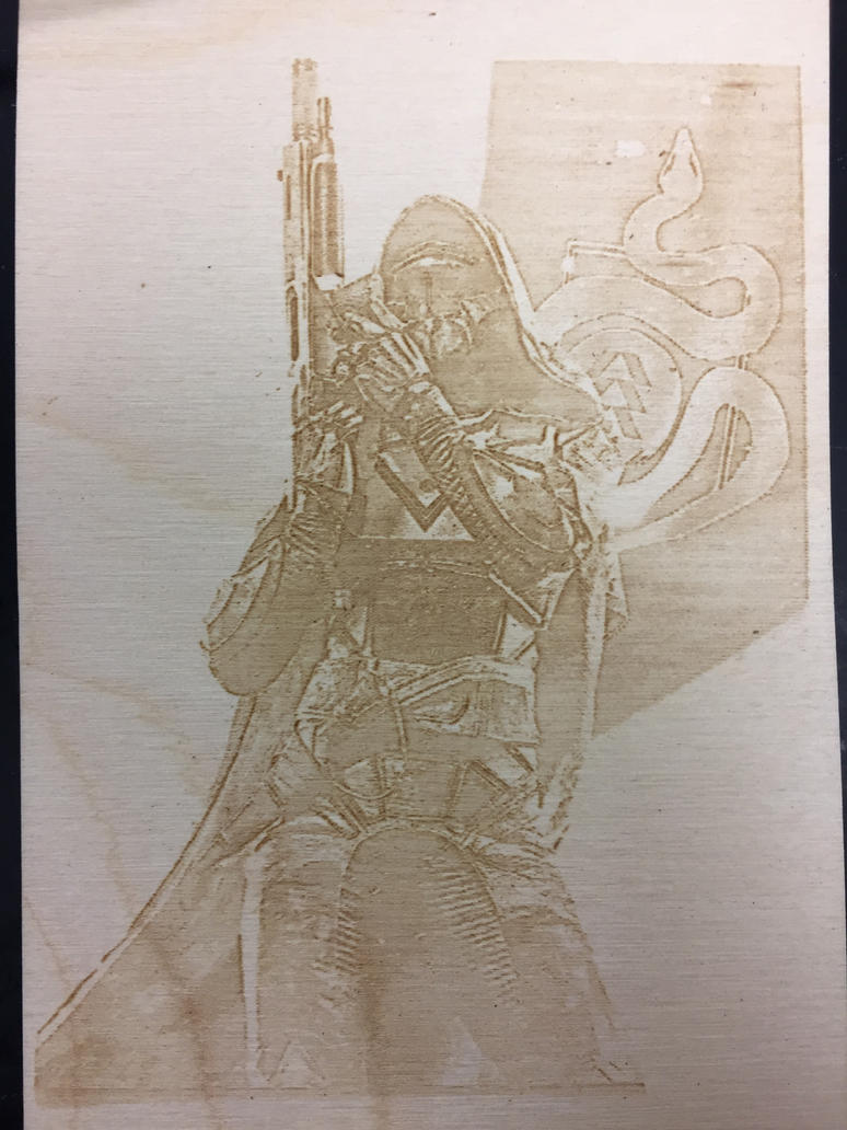 Hunter Poster Engraved Version