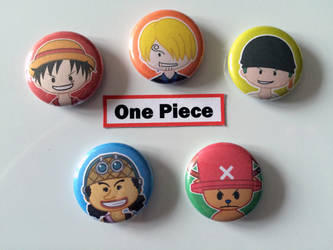 One Piece Buttons by TheStarLi