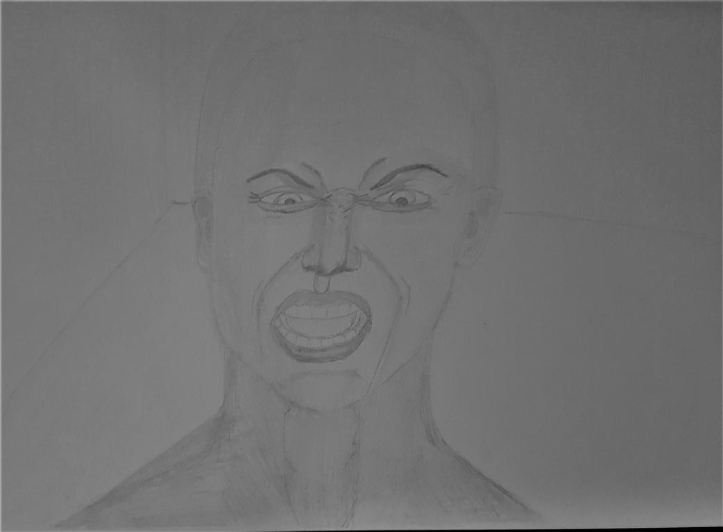facial expression, drawing from my mind exercise. by kestovaari