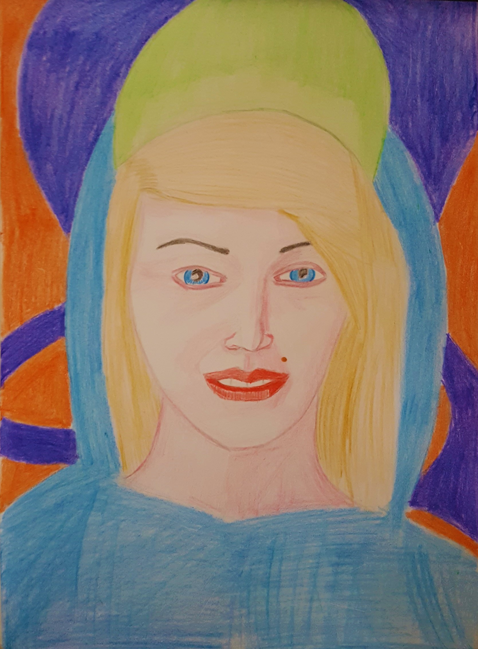 Girl in art museum by kestovaari