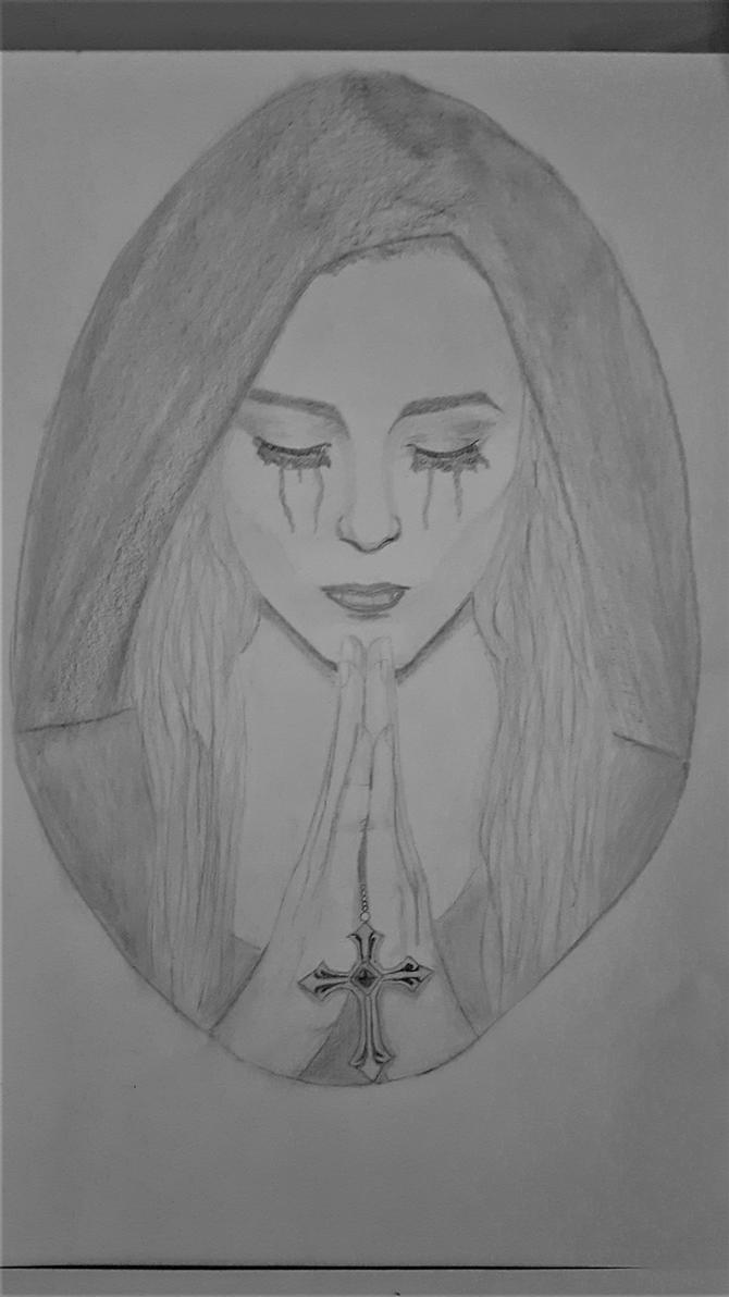 Praying woman by kestovaari