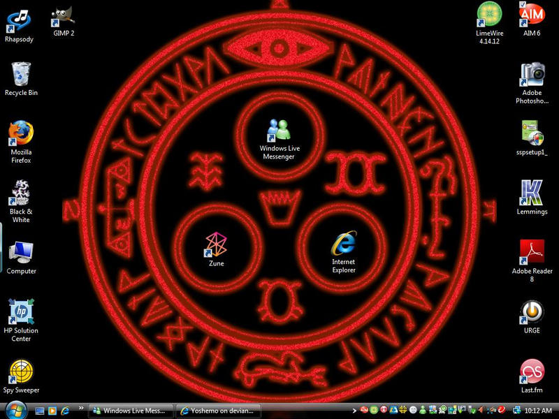 Blah....updated desktop by Yoshemo