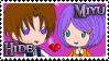 Stamp -My OCC - Hide and Miyu by nakuchan9095