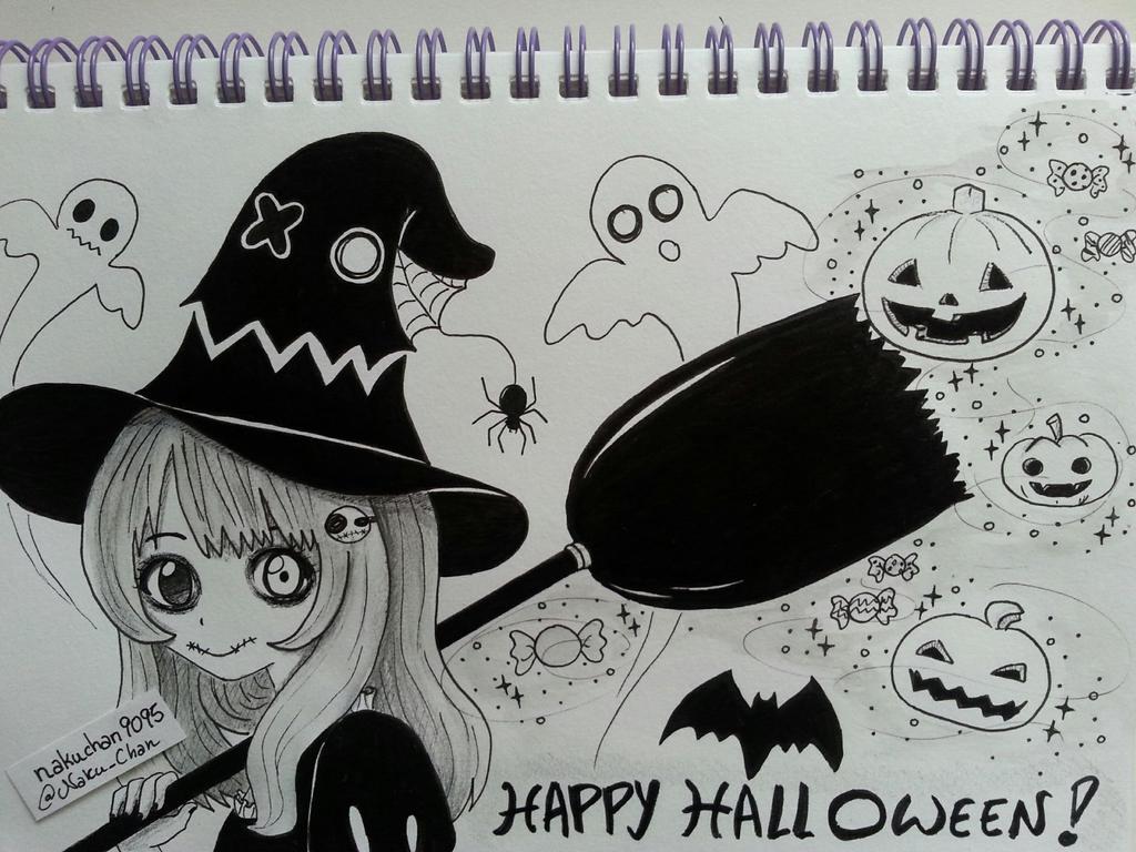 Inktober Day 31 - Happy Halloween (Free Draw) by nakuchan9095