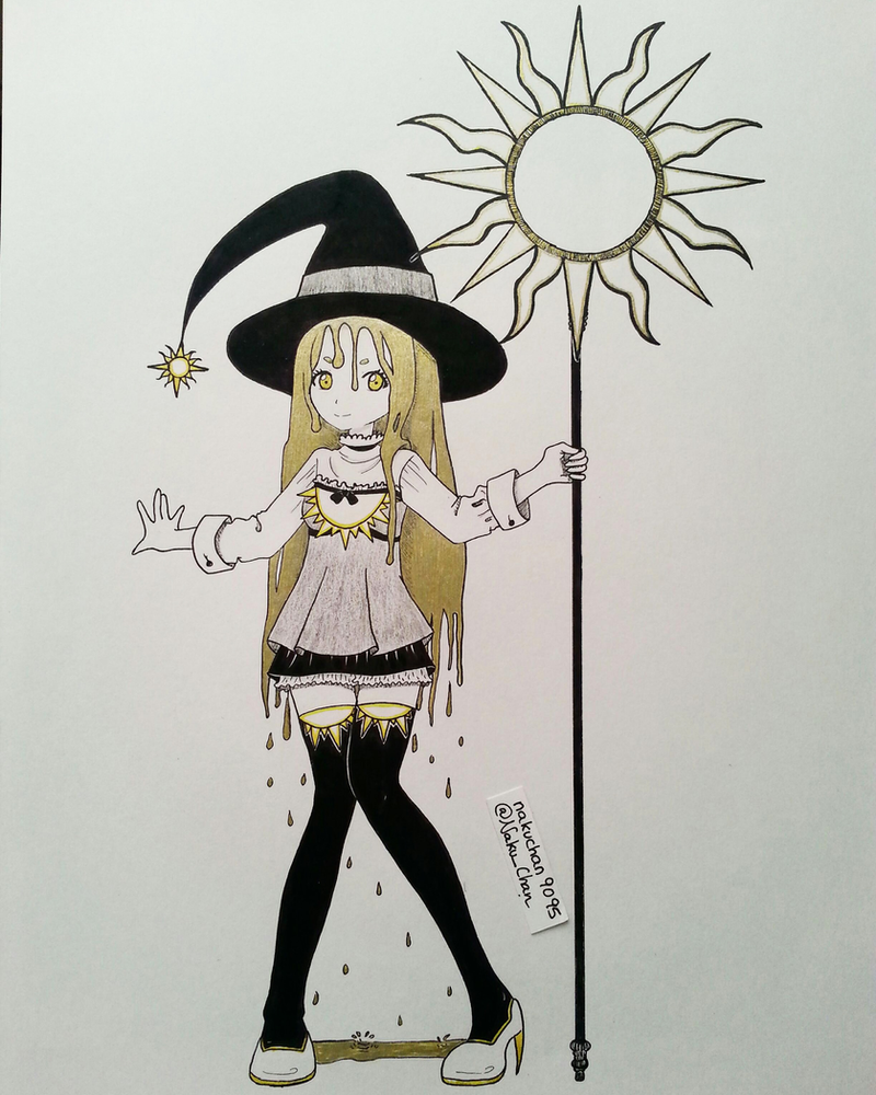 Inktober Day 02 - Sun Witch by nakuchan9095