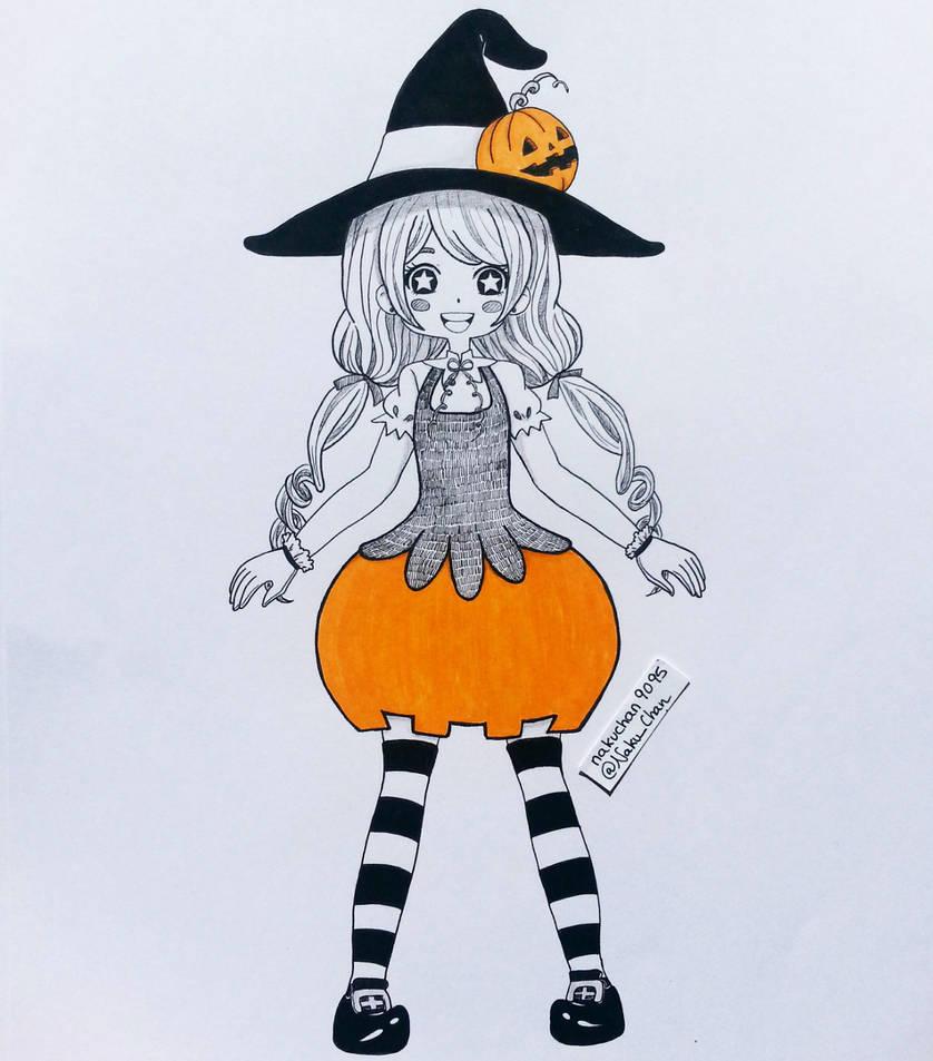 Inktober 2018 Day 04 - Pumpkin Witch