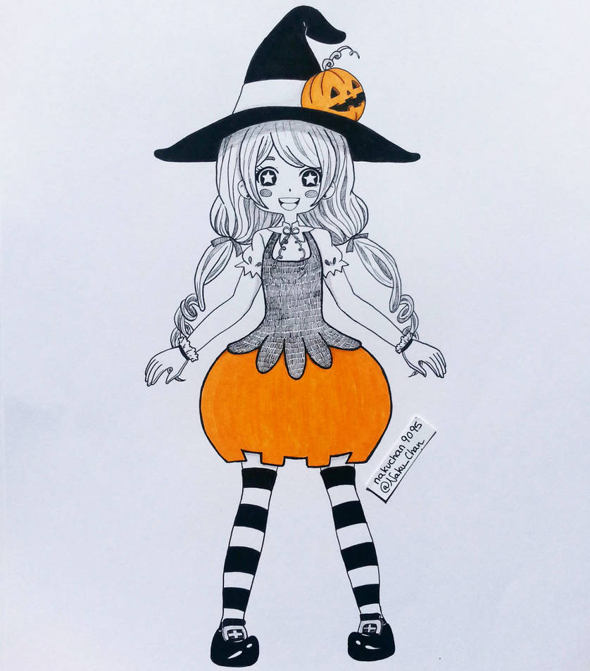 Inktober Day 04 - Pumpkin Witch