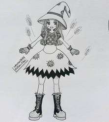 Inktober Day 05 - Scarecrow Witch