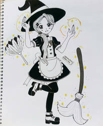 Inktober Day 10 - Home's Witch