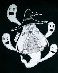 Inktober Day 11 - Ghost Witch
