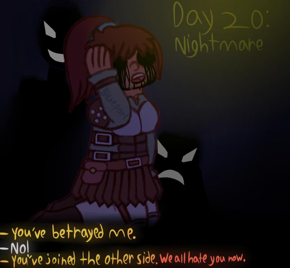 [GORETOBER 2018] DAY 20: Nightmare by BluePorl