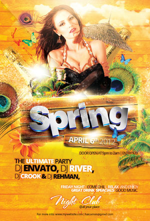 Spring Party Flyer By Caniseeu On Deviantart