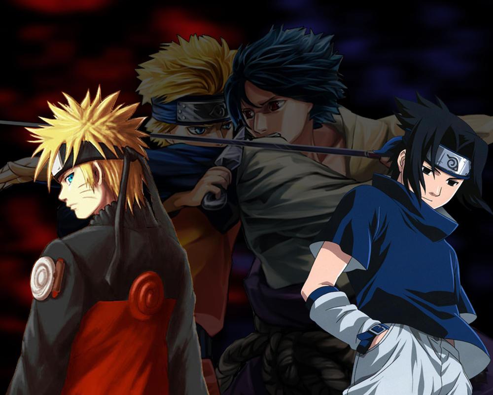 Best Wallpaper Naruto Deviantart - naruto_vs_sasuke_wallpaper_by_lt_vampire1408-d3aiman  2018_366112.jpg