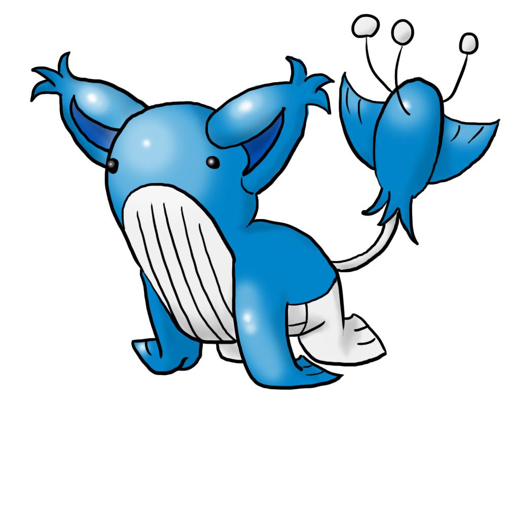 Wailord skitty pokemon fusion by dragon260 on deviantart - Pokemon x wailord ...