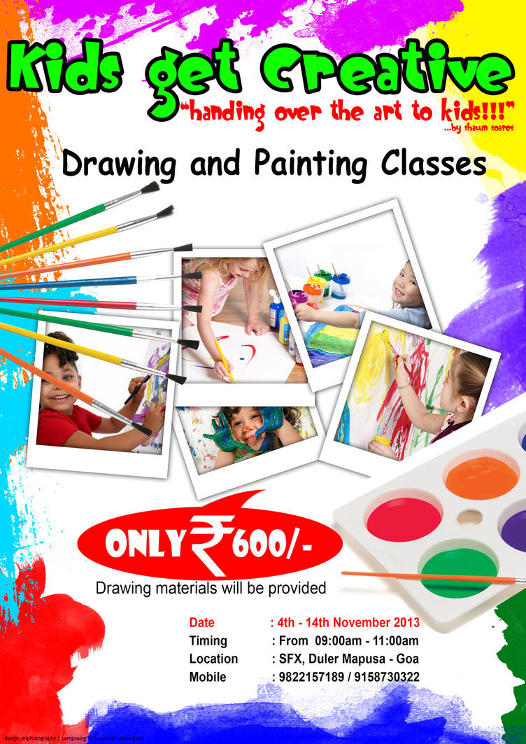 painting classes poster by jmphotographydubai on deviantart