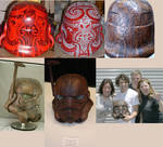 501st TK Wooden Maori Helmet
