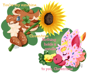 Sunflowers and Clovers