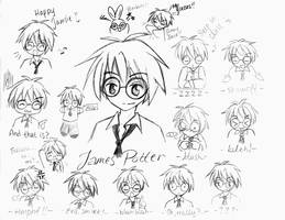 James design sketches by LittleDogStar