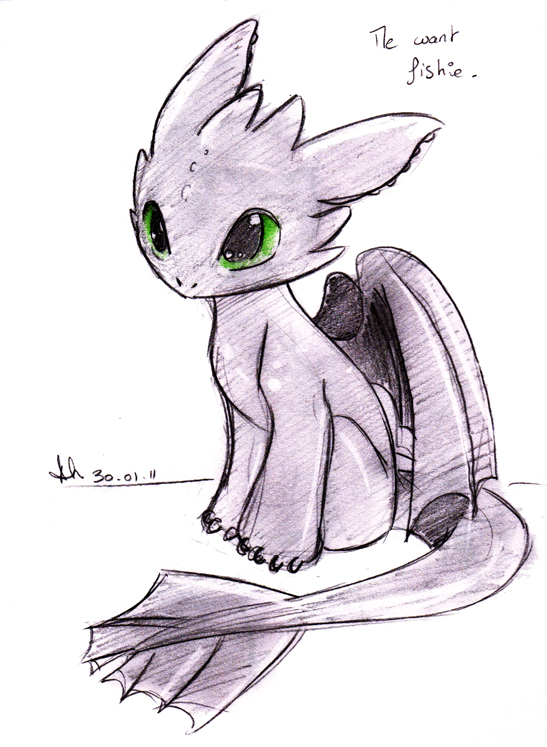 Baby Toothless  by SkyeCrys on DeviantArt