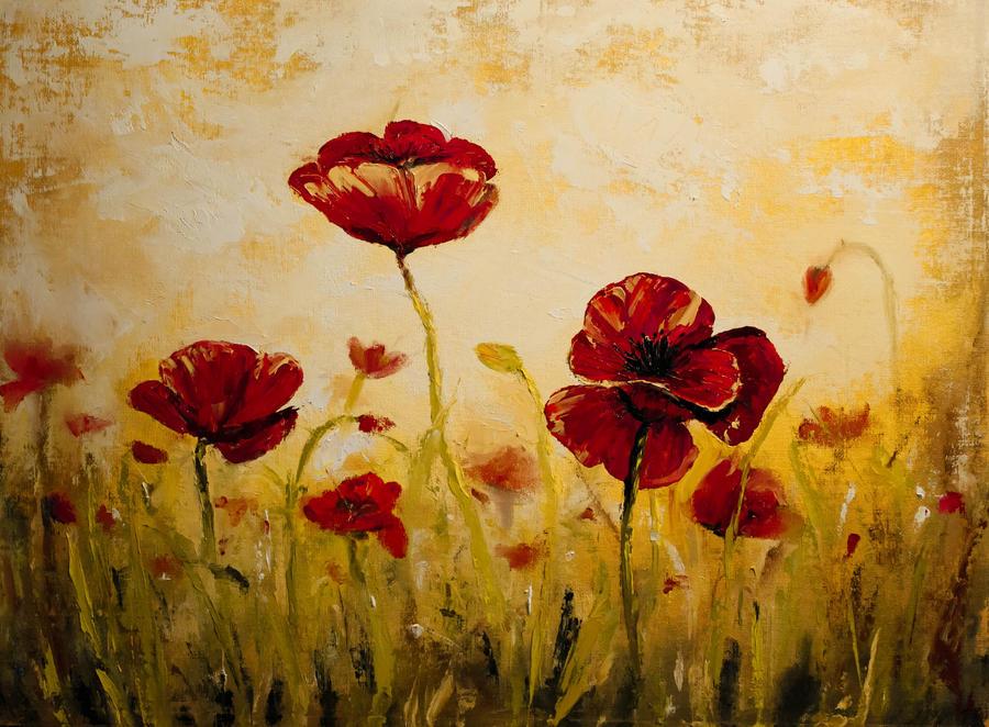 Poppy Field by MichaleDean on DeviantArt