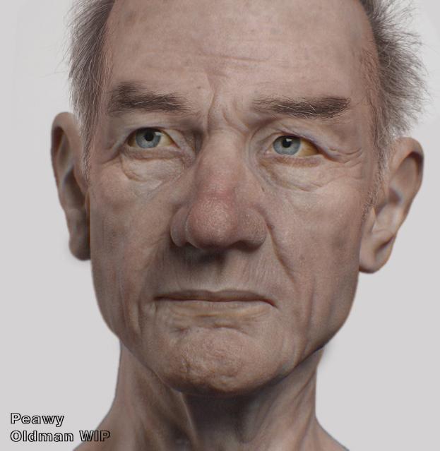 Old man Work in Progress by peawy