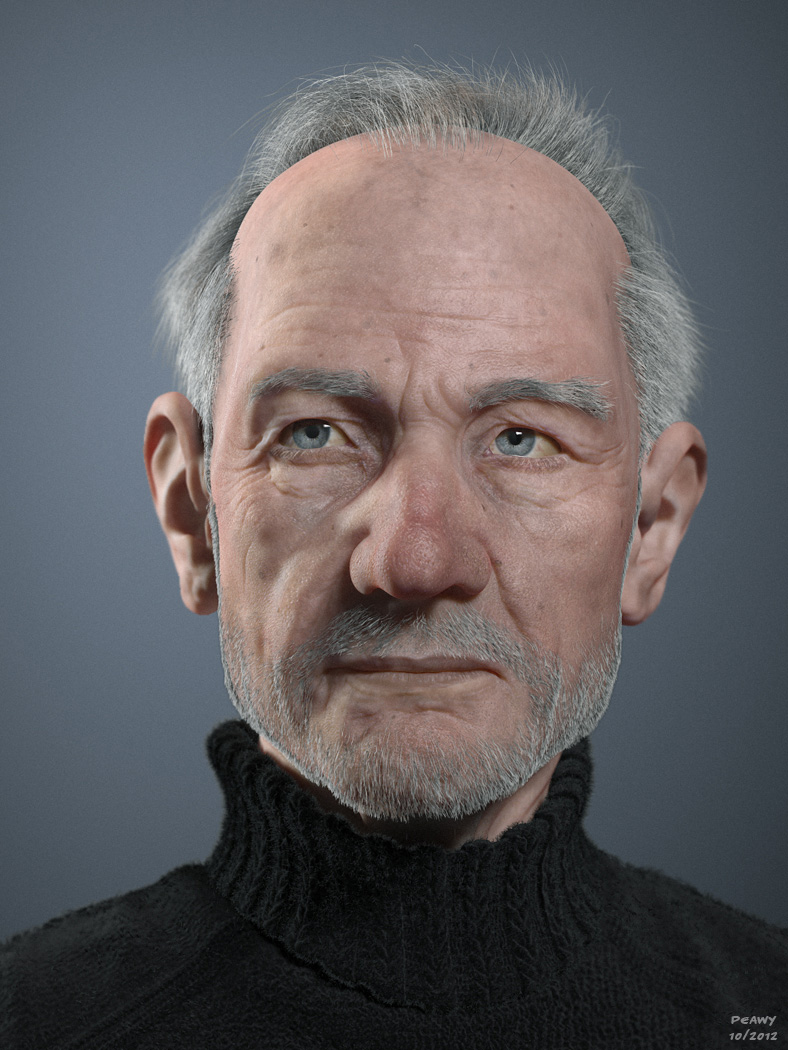 Old Man Portrait By Peawy On Deviantart