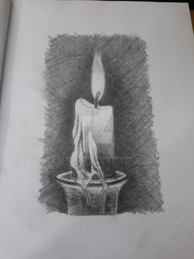 Candle pencil drawing by mantronica on deviantart