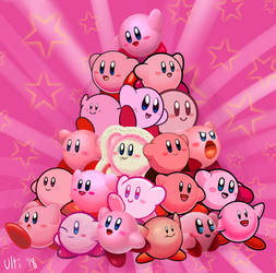 Kirby's 26th Anniversary by UltimateYoshi