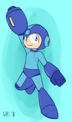(P) Mega Man by UltimateYoshi