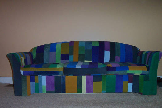 My couch I reupholstered