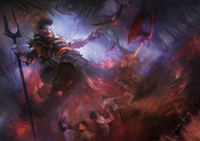 Hades in the Underworld by thealienatedchenyang