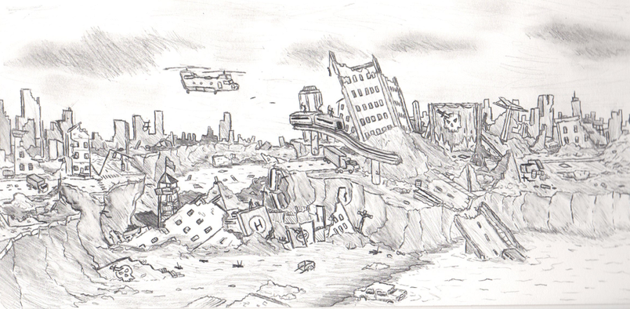 Destroyed City by Plst...