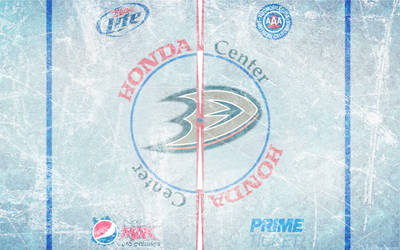 Honda Center Ice Wallpaper by DevinFlack