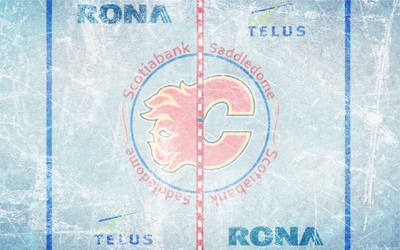 Scotiabank Saddledome Ice Wallpaper by DevinFlack