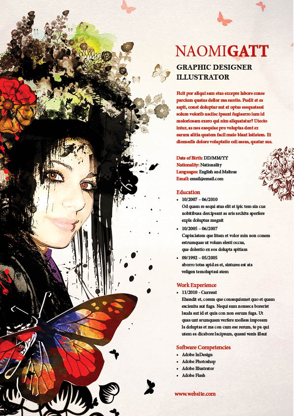 My Artistic Resume By Naomi89 ...  Artistic Resume
