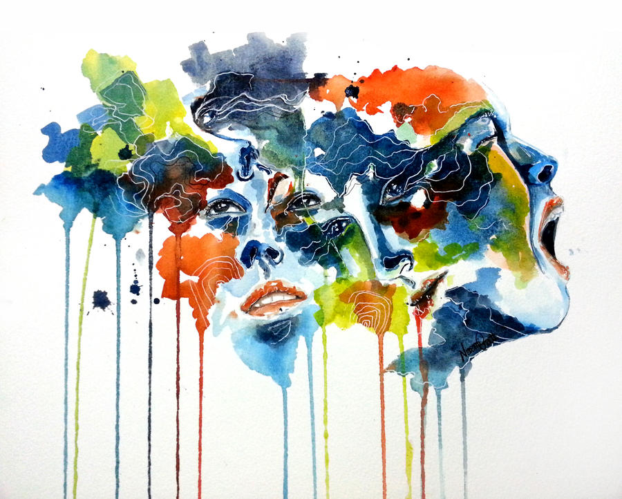 Image result for voices in my head art