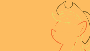 Minimalistic Applejack Wallpaper by MrFugums