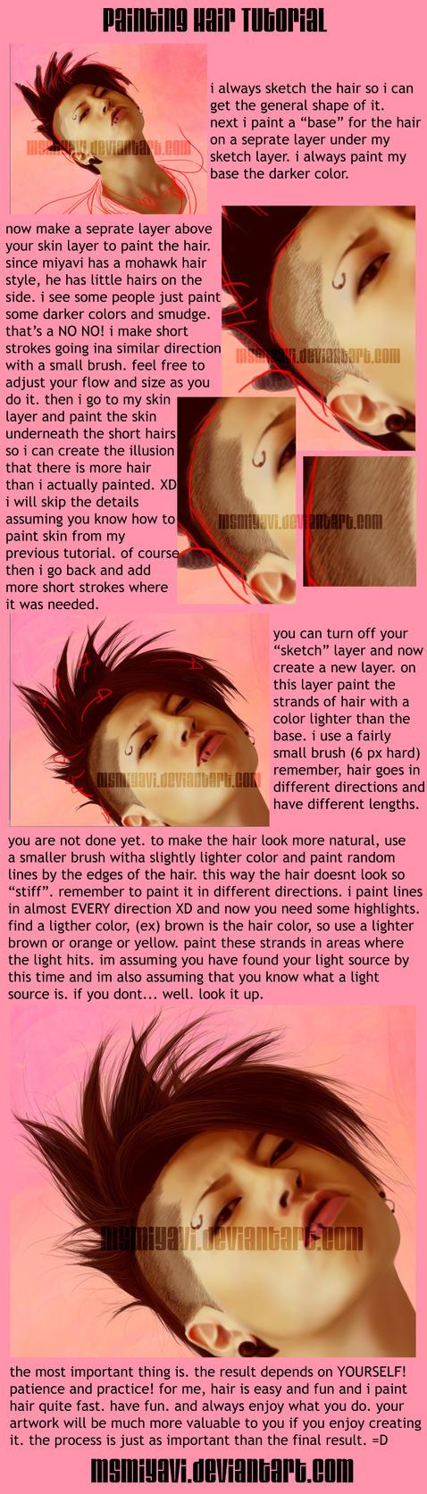 painting hair quick tutorial by MsMiyavi