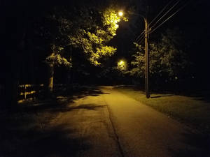 Night lonely road 20190806
