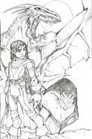 grl n dragon for contest by spyda-man