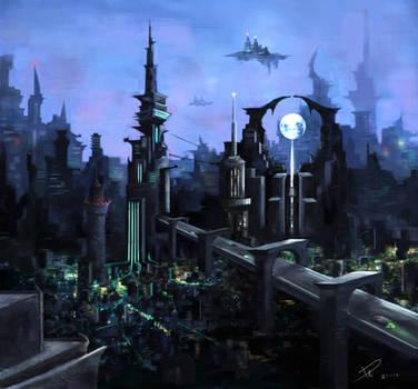 Sci-fi city! by duncanli