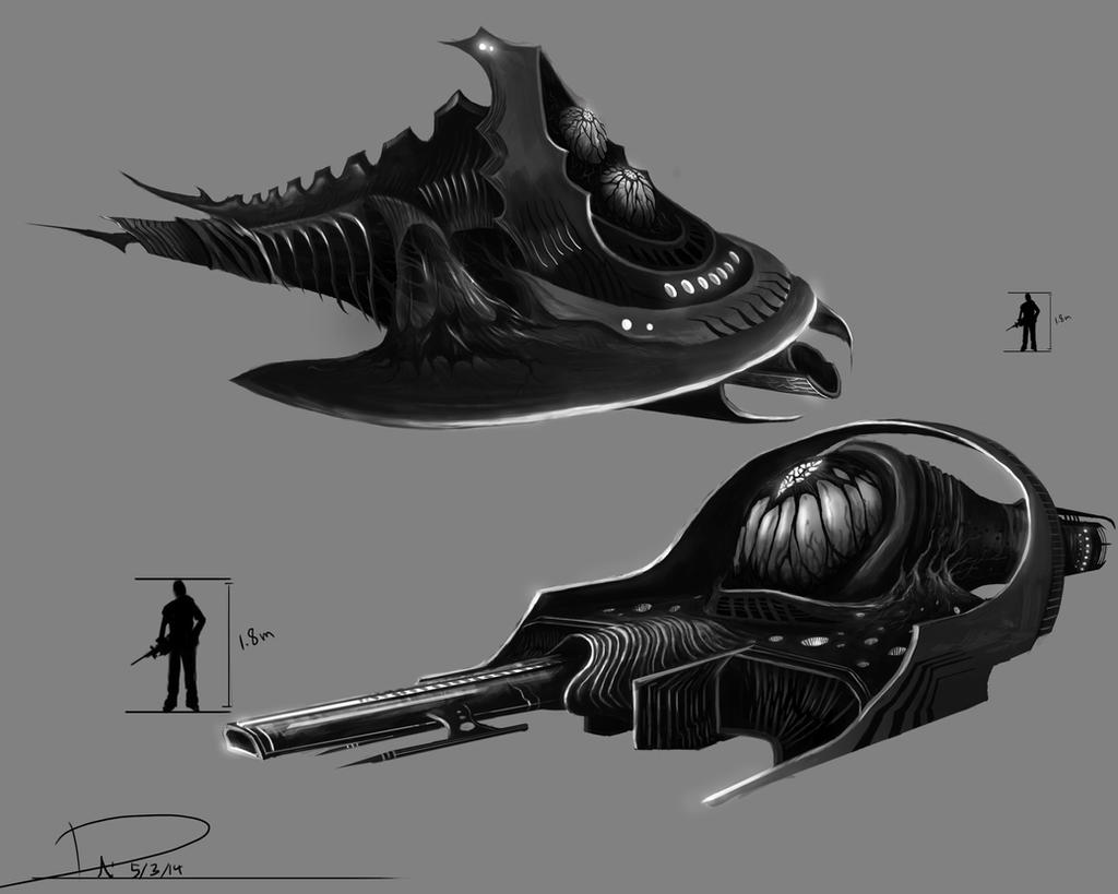 Alien ship designs by duncanli on DeviantArt