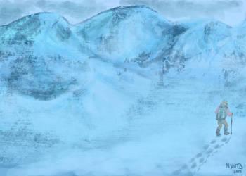 Snow and Solitude by M-Jaravata